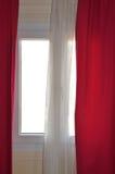 Cortinas de ventana Fotografía de archivo