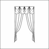 Cortinas de ventana Fotografía de archivo libre de regalías