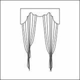 Cortinas de ventana Imágenes de archivo libres de regalías