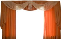 Cortinas de ventana | Aislado Fotos de archivo