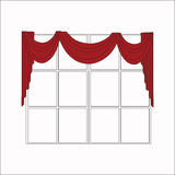 cortinas de ventana de diseño del bosquejo Fotografía de archivo