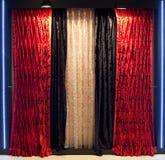 Cortinas de ventana lujosas Imagen de archivo libre de regalías