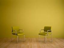 Cortinas del color - tonalidades amarillas Fotos de archivo libres de regalías