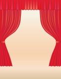 Cortinas del teatro Ilustración del Vector
