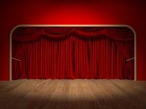 Cortinas del teatro Imágenes de archivo libres de regalías