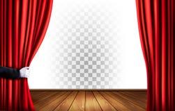 Cortinas del teatro con un fondo transparente libre illustration