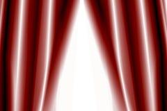 Cortinas del teatro semiabiertas ilustración del vector