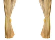 Cortinas do luxo do ouro Imagem de Stock Royalty Free