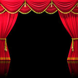 Cortinas do teatro Foto de Stock Royalty Free