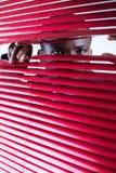 Cortinas do vermelho Fotos de Stock