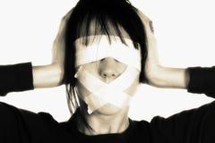 Cortinas dos media - conceito da censura Fotografia de Stock Royalty Free