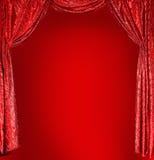 Cortinas elegantes do vermelho do teatro Fotografia de Stock