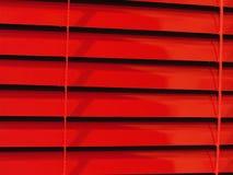 Cortinas horizontais vermelhas Fotos de Stock