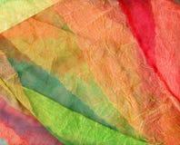 Cortinas multicoloras Foto de archivo libre de regalías