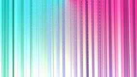 Cortinas polivinílicas bajas rosadas azules simples abstractas 3D y cristales blancos que vuelan como ambiente de la matemáticas  stock de ilustración