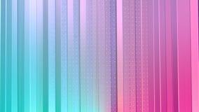 Cortinas polivinílicas bajas rosadas azules simples abstractas 3D y cristales blancos que vuelan como ambiente químico Punto bajo stock de ilustración