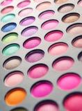Cortinas profesionales para un maquillaje de ojos Foto de archivo