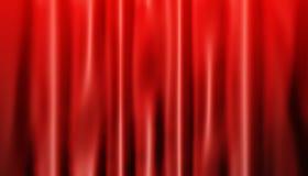 Cortinas rojas Foto de archivo libre de regalías