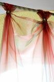 Cortinas rojas Imagenes de archivo