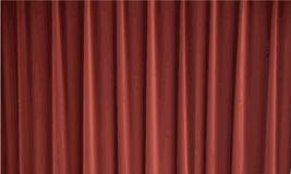 Cortinas rojas Fotografía de archivo libre de regalías