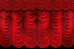 Cortinas rojas de la etapa Imágenes de archivo libres de regalías