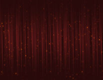 Cortinas rojas del brillo de la chispa Fotografía de archivo libre de regalías
