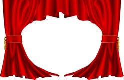 Cortinas rojas del estilo del teatro Fotografía de archivo libre de regalías