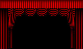 Cortinas rojas del teatro Foto de archivo libre de regalías
