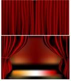 Cortinas rojas del terciopelo Fotografía de archivo libre de regalías