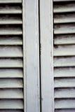 Cortinas venetian de madeira brancas Imagem de Stock Royalty Free