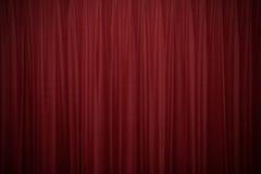 Cortinas vermelhas 2 de veludo fotografia de stock royalty free