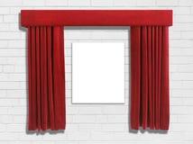 Cortinas vermelhas  Imagens de Stock Royalty Free