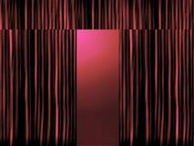 Cortinas vermelhas do estágio com projector Fotos de Stock