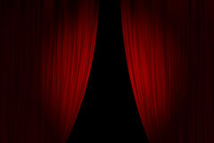 Cortinas vermelhas do teatro Imagem de Stock Royalty Free