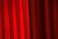 Cortinas vermelhas para o fundo da cerimônia de entrega dos prêmios Foto de Stock Royalty Free