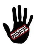 Cortisolo di Handprint Fotografie Stock
