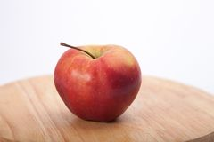 Cortland apple on wooden table Royalty Free Stock Photography