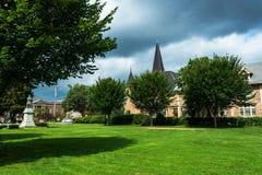Cortland, NY: Corthouse park fotografia stock