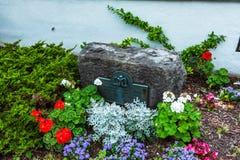 Cortland, NY : Parc de Corthouse photographie stock libre de droits