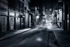 Cortlandt Alley by night in NYC Royalty Free Stock Image