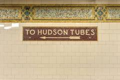 Cortlandt Street Subway Station, New York Stock Images