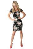 Cortocircuito joven Mini Dress de la mujer de negocios Fotografía de archivo libre de regalías