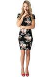 Cortocircuito Mini Dress apretado de la mujer joven Foto de archivo libre de regalías