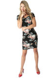 Cortocircuito Mini Dress apretado de la mujer joven Fotografía de archivo libre de regalías