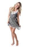 Cortocircuito Mini Dress de la mujer joven Fotografía de archivo libre de regalías