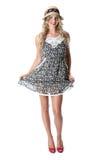 Cortocircuito Mini Dress de la mujer joven Foto de archivo libre de regalías