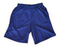Cortocircuitos atléticos azules Imagenes de archivo