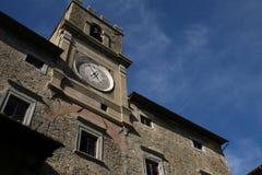 Cortona, Италия, здание муниципалитет Стоковые Изображения RF