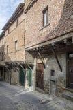 Cortona, Arezzo, Toscana, Italia, Europa, casas medievales imagen de archivo libre de regalías