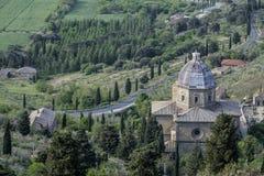 Cortona, arezzo, tuscany, italy, church madonna del calcinaio Royalty Free Stock Photos